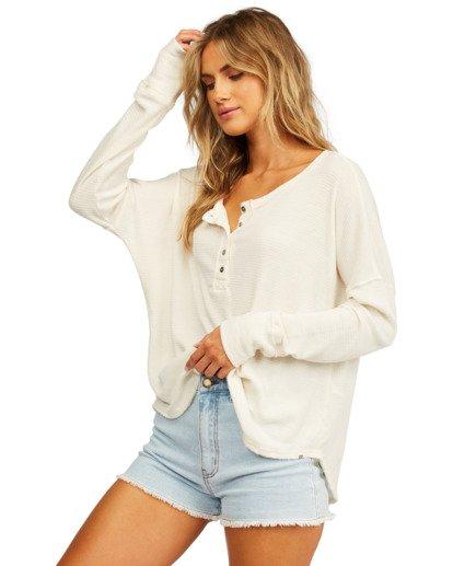 1 Any Day Thermal Long Sleeve T-Shirt White J903VBAN Billabong