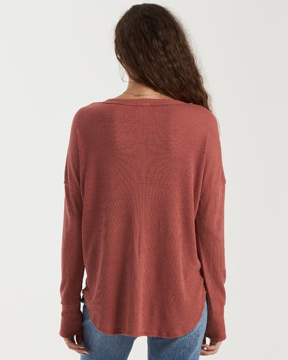 2 Any Day Top Brown J903VBAN Billabong