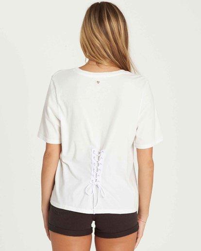 3 Take Back Lace-Up Vintage T-Shirt  J909PBTA Billabong