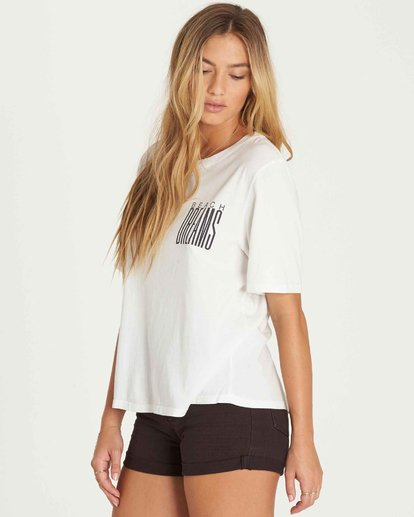 2 Take Back Lace-Up Vintage T-Shirt  J909PBTA Billabong