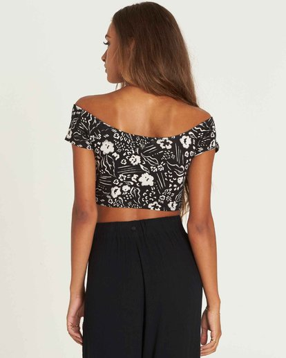 2 Babe Alert Off-The-Shoulder Crop Top  J910PBBA Billabong