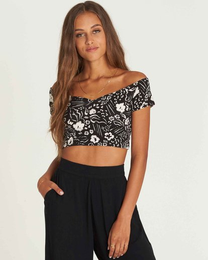 0 Babe Alert Off-The-Shoulder Crop Top  J910PBBA Billabong