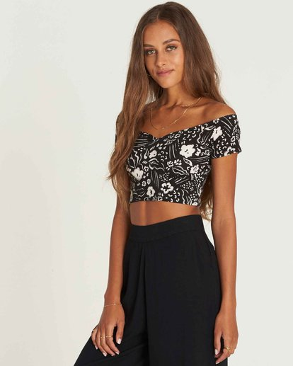 1 Babe Alert Off-The-Shoulder Crop Top  J910PBBA Billabong