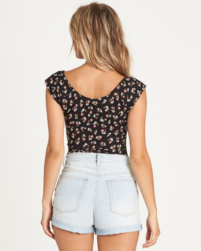 3 Its A Date Top Black J910UBIT Billabong