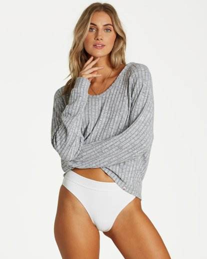 0 Cozy Up Top Grey J911VBCO Billabong