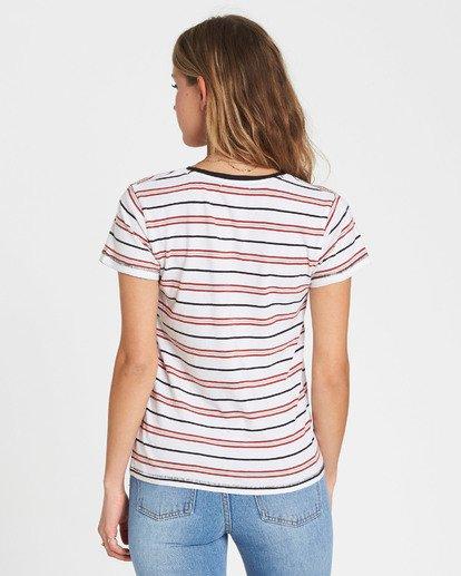 2 Soul Babe Ringer T-Shirt Red J915LSOU Billabong