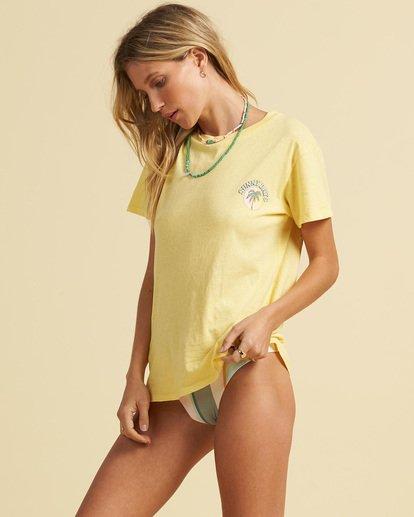 2 Salty Blonde Not A Tourist T-Shirt Pink J9173BNO Billabong