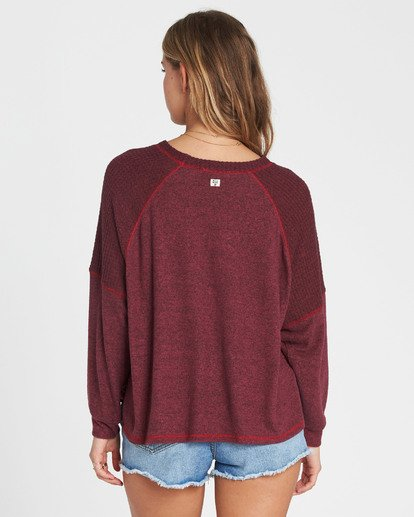 2 Head Start Long Sleeve Top Red J917SBHE Billabong