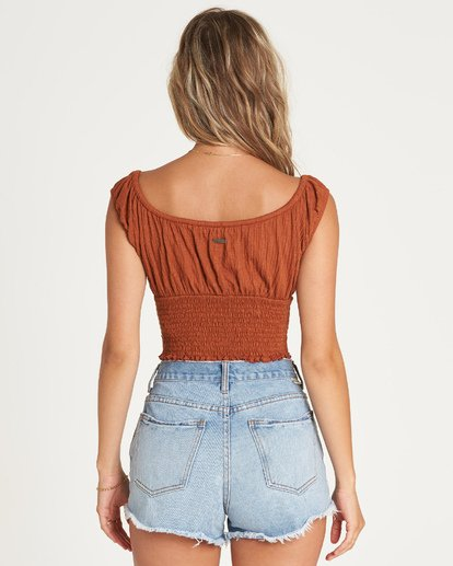 2 Getway Top Brown J917UBGE Billabong