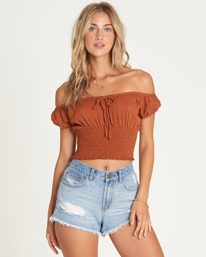 0 Getway Top Brown J917UBGE Billabong