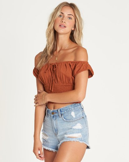 1 Getway Top Brown J917UBGE Billabong