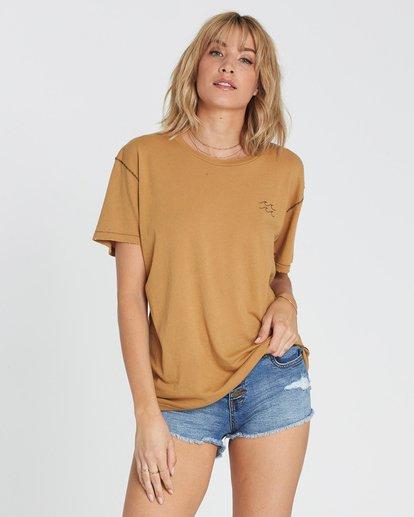 0 Beach Daze Short Sleeve T-Shirt Yellow J921NBBE Billabong