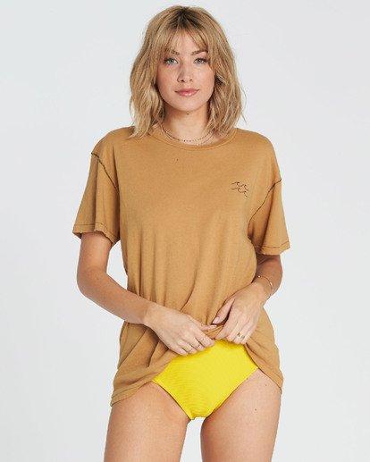 3 Beach Daze Short Sleeve T-Shirt Yellow J921NBBE Billabong