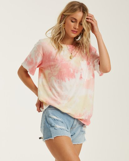 2 Beach Comber Tie-Dye Top Black J9222BBE Billabong