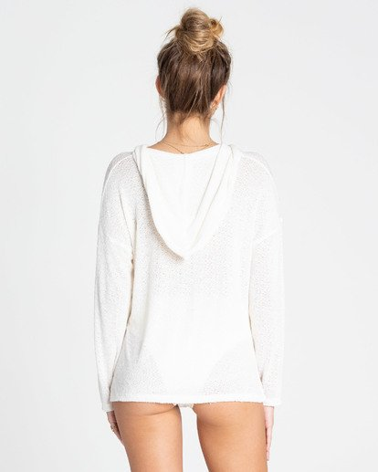 2 Days In The Sun Hooded Long Sleeve Top White J922TBDA Billabong