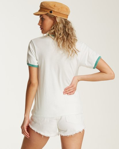 2 Turn Around Ringer Tee White J923TBTU Billabong