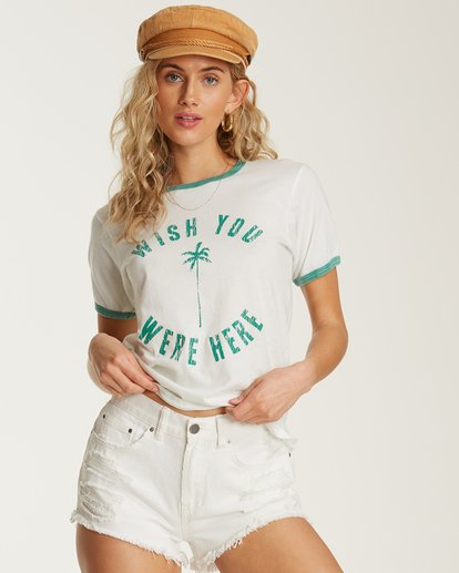 0 Turn Around Ringer Tee White J923TBTU Billabong