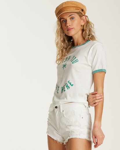 1 Turn Around Ringer Tee White J923TBTU Billabong