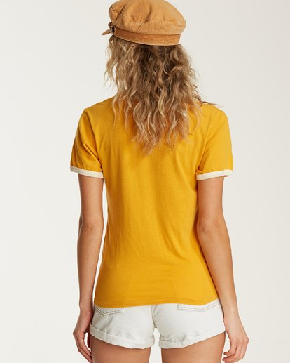 2 Turn Around Ringer T-Shirt Yellow J923TBTU Billabong