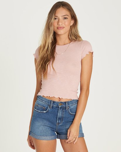 0 Baby Me T-Shirt Pink J941UBBA Billabong