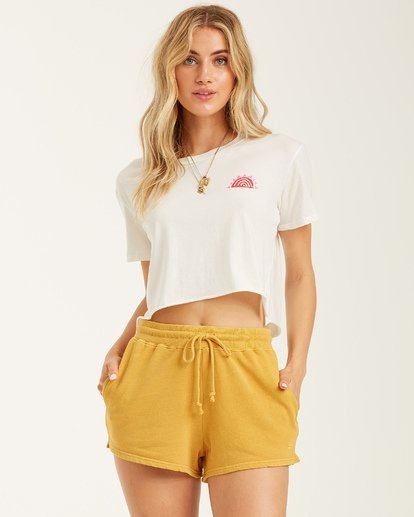 2 Suns Out Top White J9502BSU Billabong