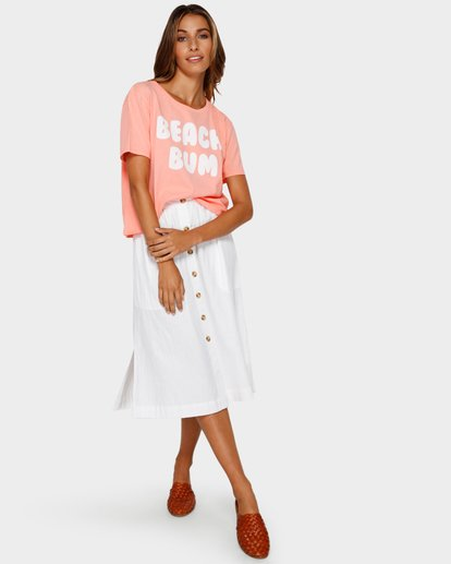 4 Beach Bum Crop T-Shirt Pink J990TBBR Billabong