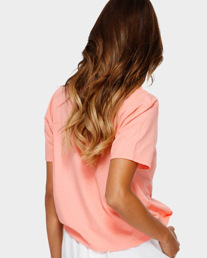 2 Beach Bum Crop T-Shirt Pink J990TBBR Billabong