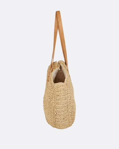1 Round About Straw Tote Bag  JABGPBRO Billabong