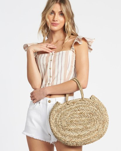1 Had Me At Aloha Straw Tote Bag Brown JABGTBHA Billabong