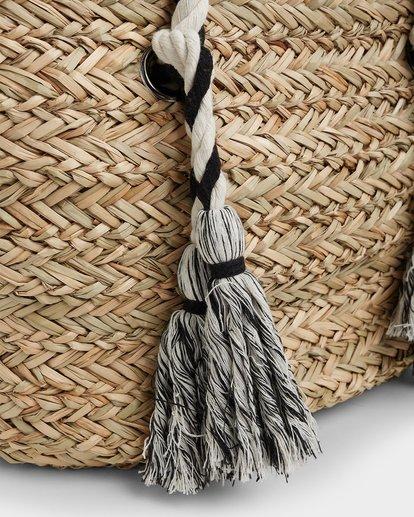 5 Island Time Straw Tote Bag White JABGUBIS Billabong