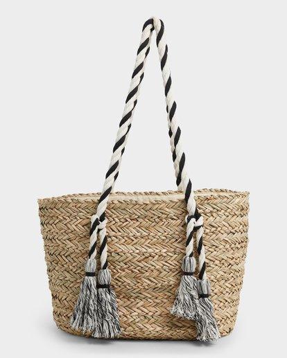 1 Island Time Straw Tote Bag White JABGUBIS Billabong
