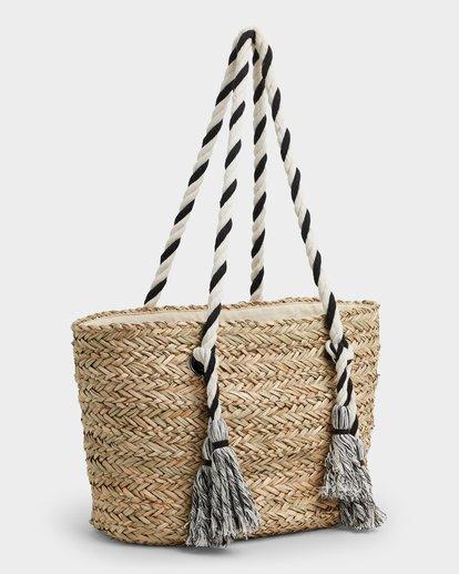 2 Island Time Straw Tote Bag White JABGUBIS Billabong
