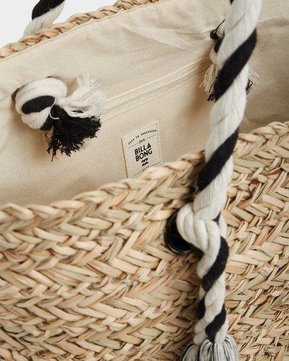 3 Island Time Straw Tote Bag White JABGUBIS Billabong