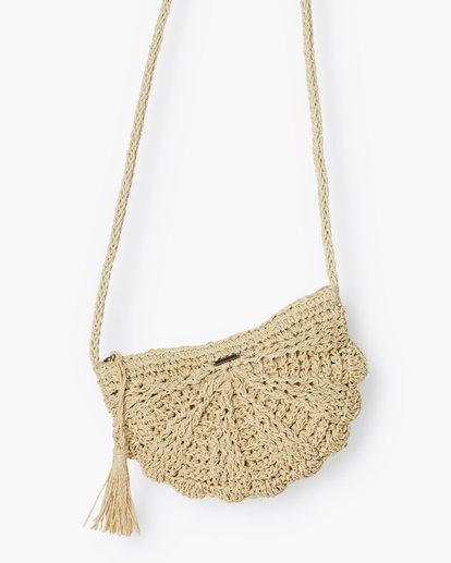 3 Beach Bliss Straw Crossbody White JABGVBBE Billabong