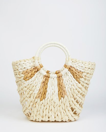 3 High Summer Straw Tote Beige JABGVBHI Billabong