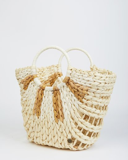 1 High Summer Straw Tote Beige JABGVBHI Billabong