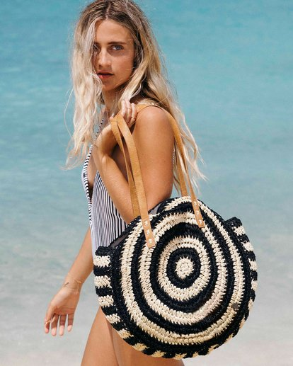 0 Round About Straw Bag Black JABGVBRO Billabong