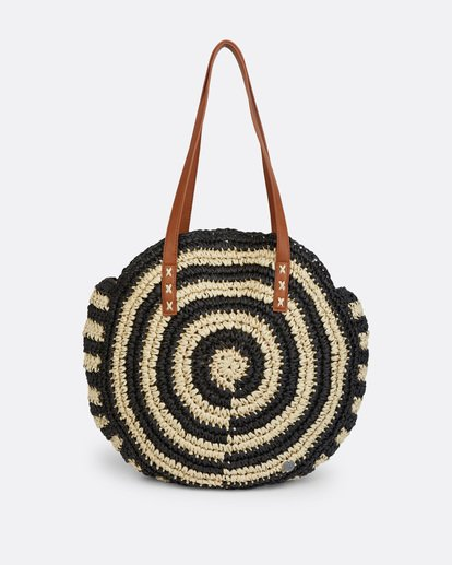 1 Round About Straw Bag Black JABGVBRO Billabong