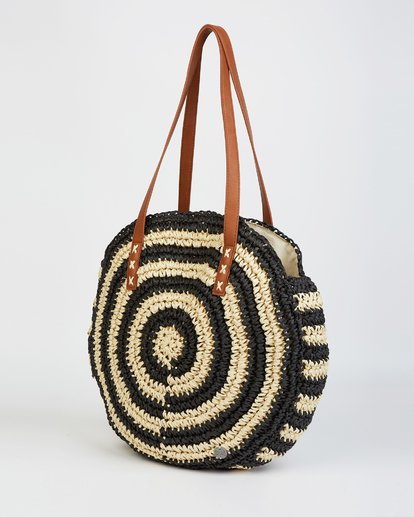 2 Round About Straw Bag Black JABGVBRO Billabong