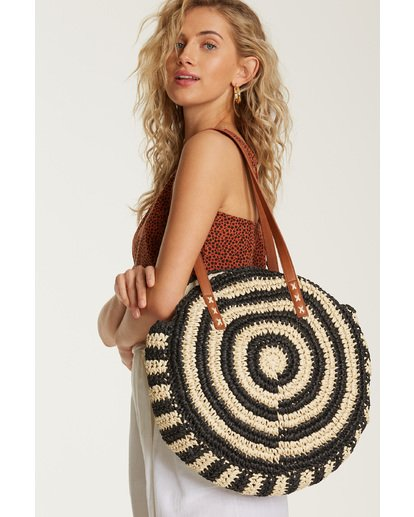 3 Round About Straw Bag Black JABGVBRO Billabong