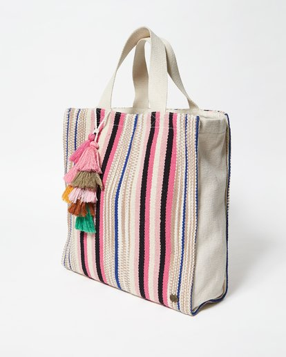 1 Sweet Sun Canvas Tote Bag White JABGVBSW Billabong