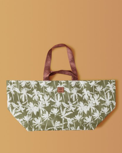 1 Kollab Pretty Palms Beach Bag Green JABGWBPB Billabong