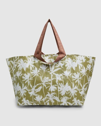 5 Kollab Pretty Palms Beach Bag Green JABGWBPB Billabong