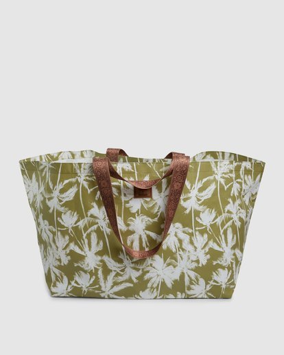 6 Kollab Pretty Palms Beach Bag Green JABGWBPB Billabong