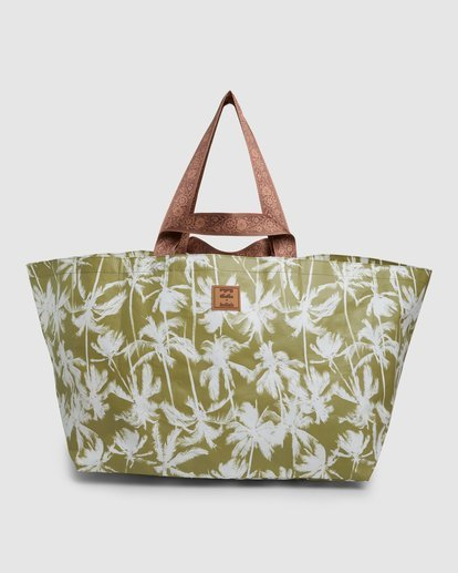 2 Kollab Pretty Palms Beach Bag Green JABGWBPB Billabong