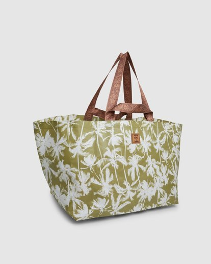 3 Kollab Pretty Palms Beach Bag Green JABGWBPB Billabong