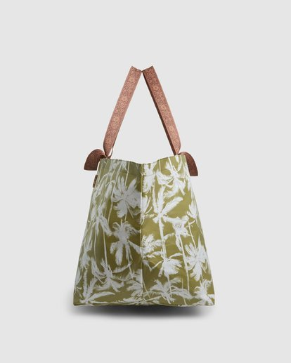 4 Kollab Pretty Palms Beach Bag Green JABGWBPB Billabong