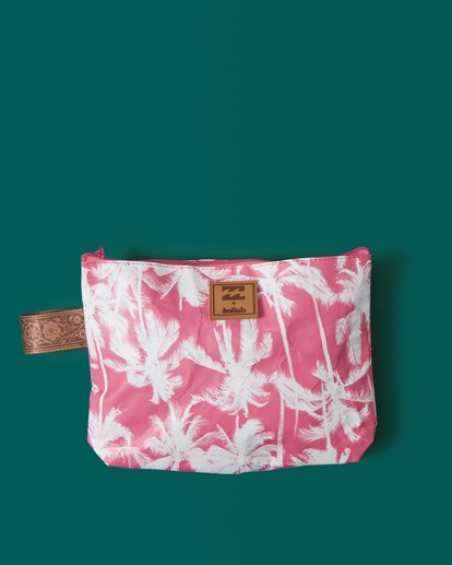 1 Kollab Pretty Palms Clutch Pink JABGWBPP Billabong