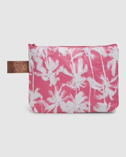 4 Kollab Pretty Palms Clutch Pink JABGWBPP Billabong