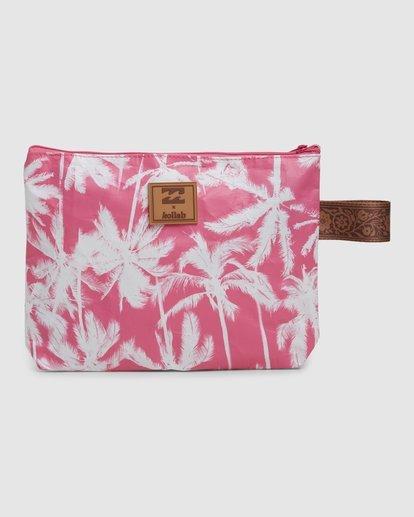 2 Kollab Pretty Palms Clutch Pink JABGWBPP Billabong